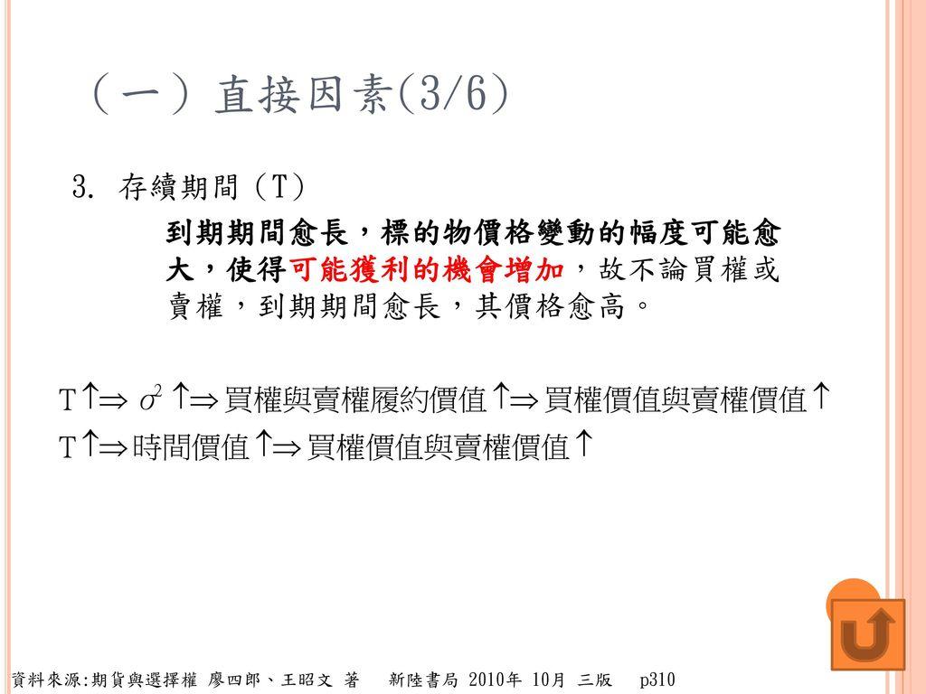 (一)直接因素(3/6) 3.
