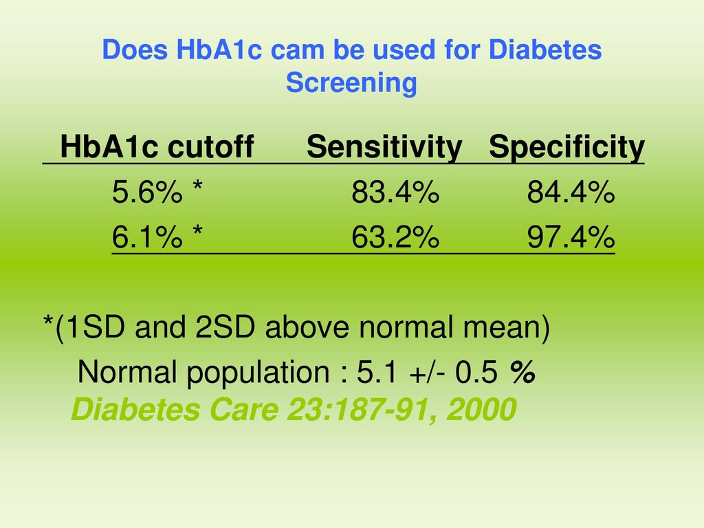 Does HbA1c cam be used for Diabetes Screening