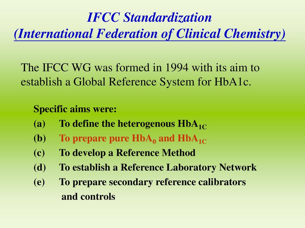 (International Federation of Clinical Chemistry)