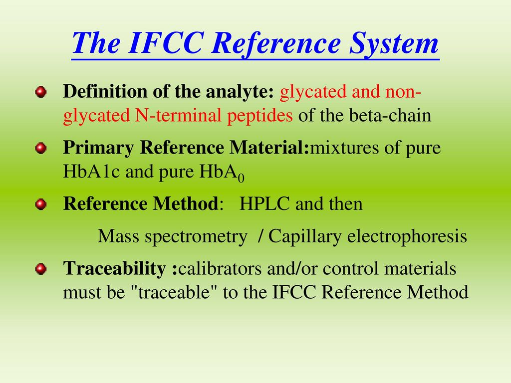 The IFCC Reference System