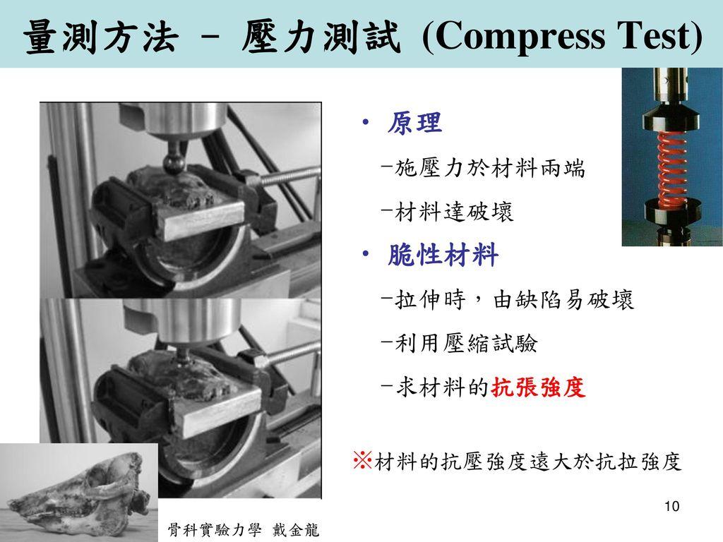 量測方法 - 壓力測試 (Compress Test)