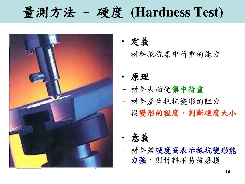 量測方法 - 硬度 (Hardness Test)