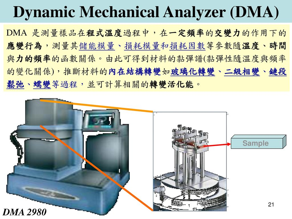 Dynamic Mechanical Analyzer (DMA)