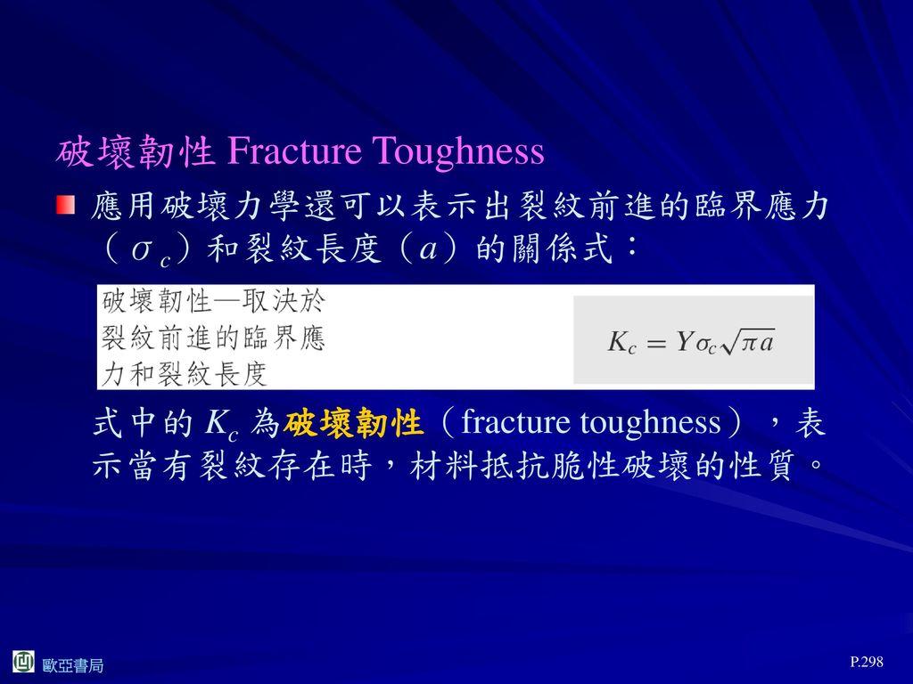 破壞韌性 Fracture Toughness