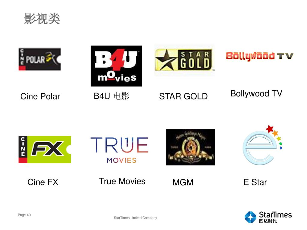 影视类 Bollywood TV Cine Polar B4U 电影 STAR GOLD Cine FX True Movies MGM