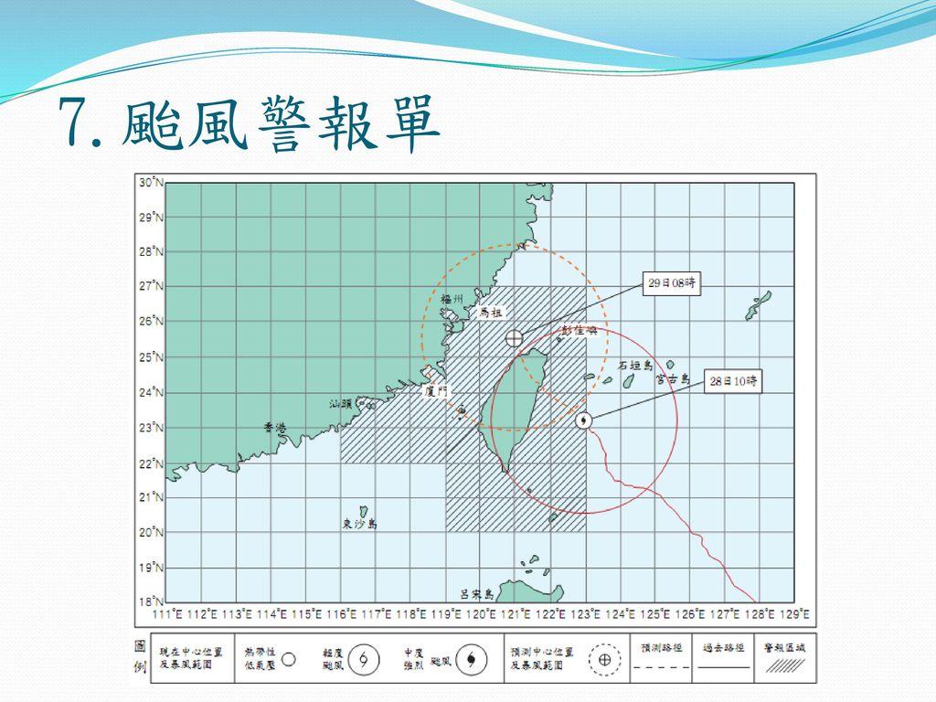7.颱風警報單
