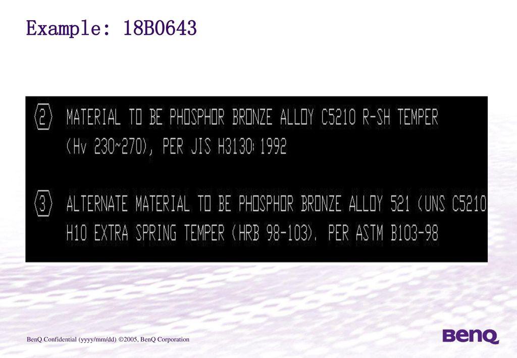 Example: 18B0643
