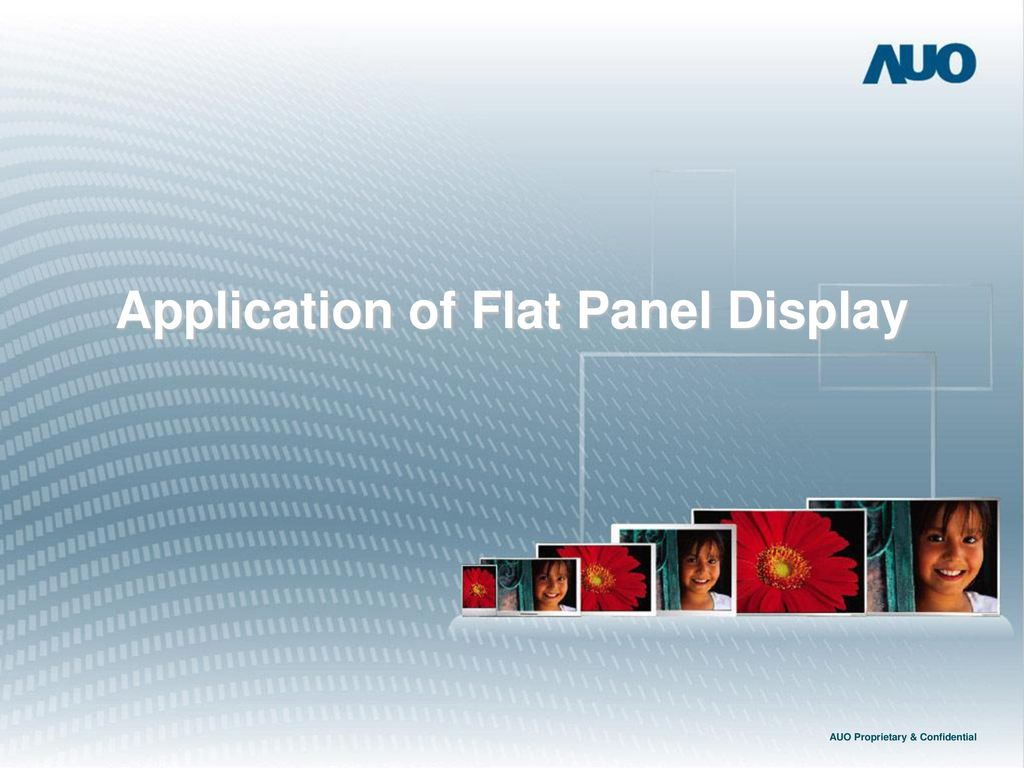 Application of Flat Panel Display AUO Proprietary & Confidential