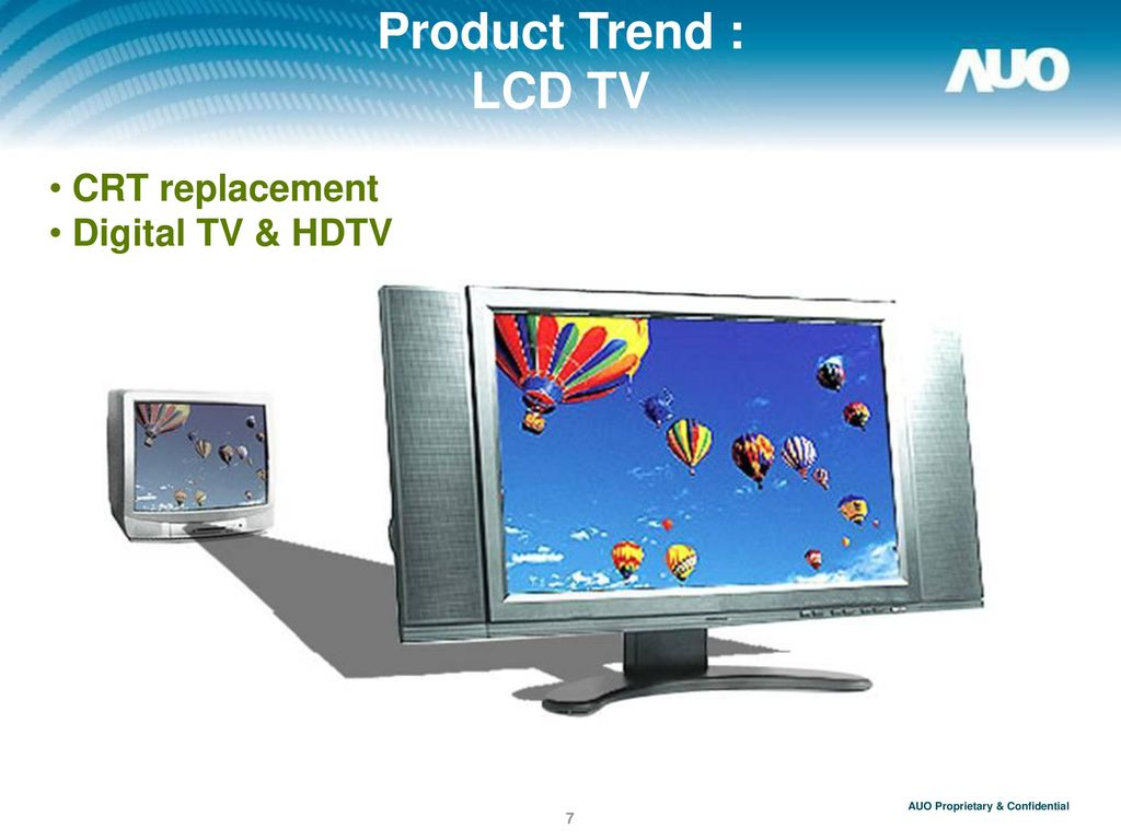Product Trend : LCD TV CRT replacement Digital TV & HDTV