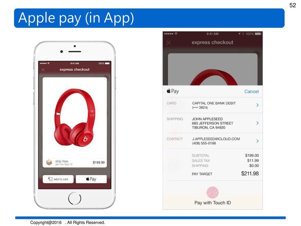 Apple pay (in App)
