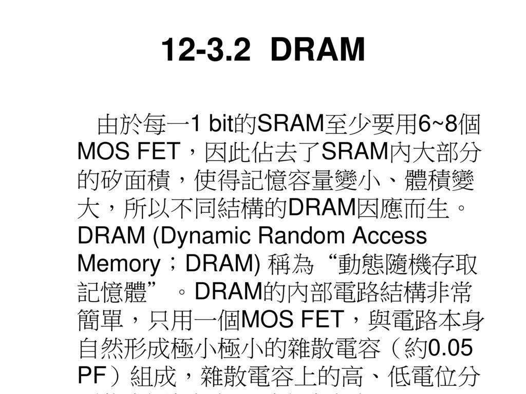12-3.2 DRAM