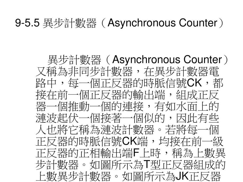 9-5.5 異步計數器(Asynchronous Counter)