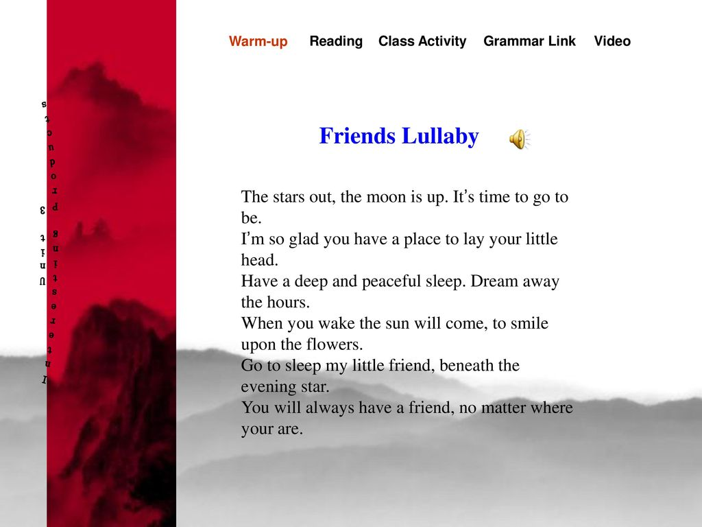Interesting Products Unit 3 Friends Lullaby
