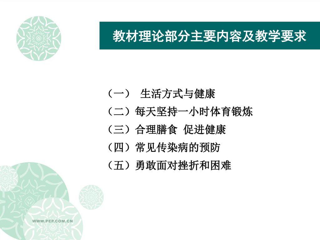 小学生合理膳食ppt_人民教育出版社 《体育与健康(七年级 全一册)》 教材介绍 皂 ...