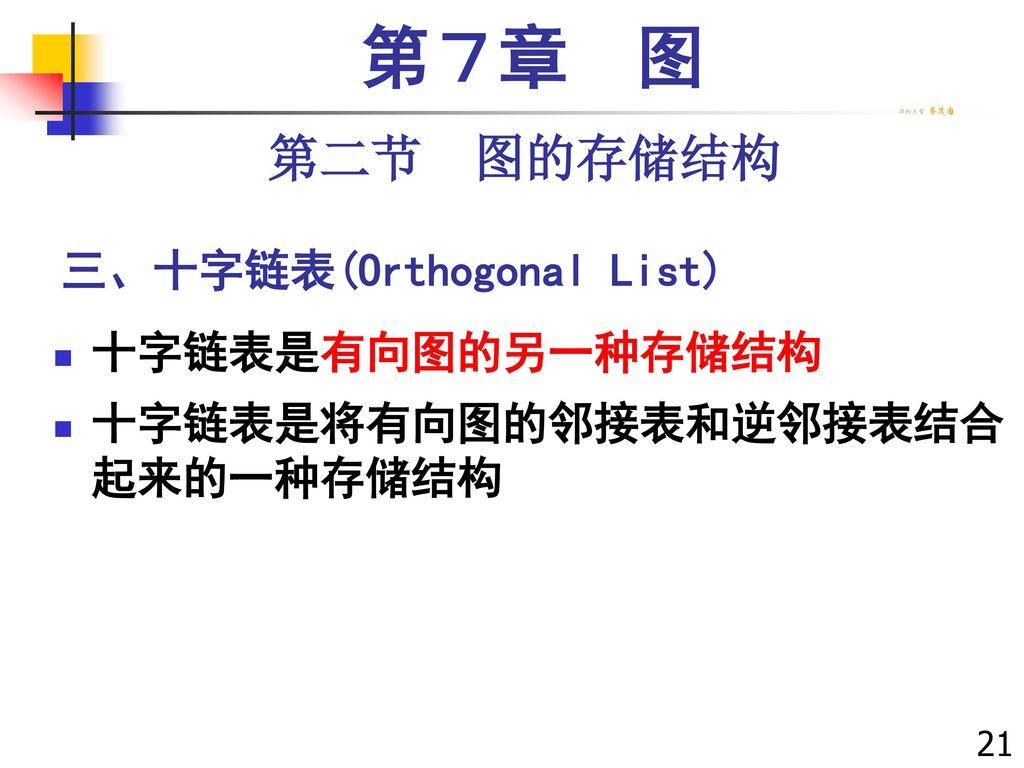 三、十字链表(Orthogonal List)