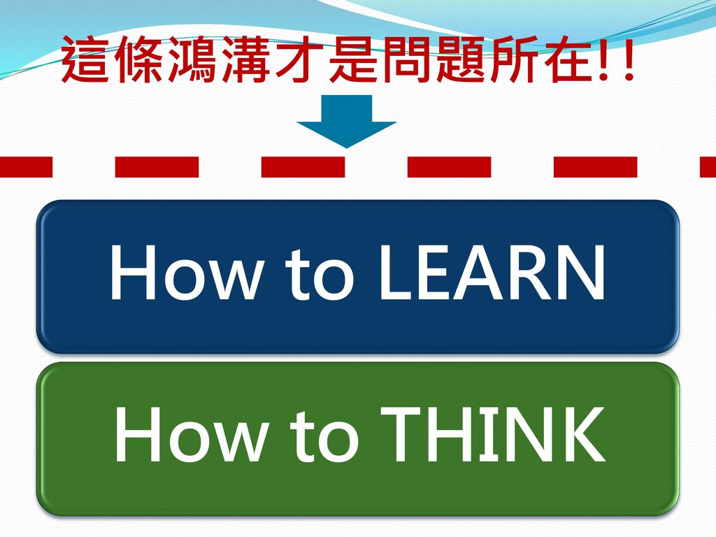 How to LEARN How to THINK