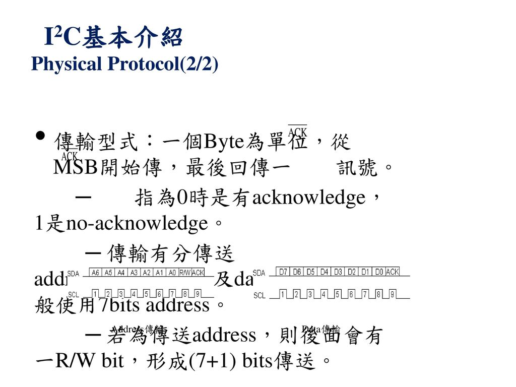 I2C基本介紹 Physical Protocol(2/2)