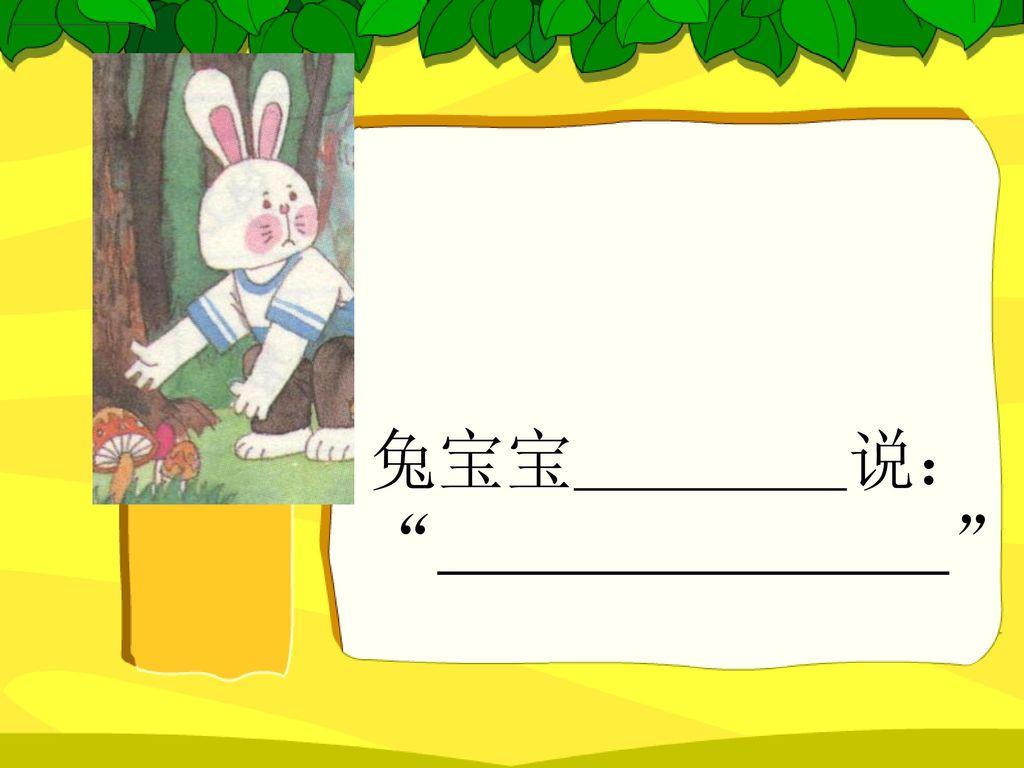 兔宝宝 说: