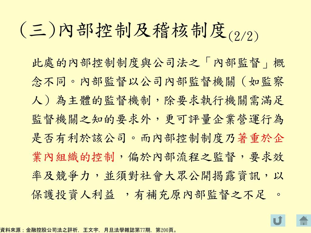 (三)內部控制及稽核制度(2/2)