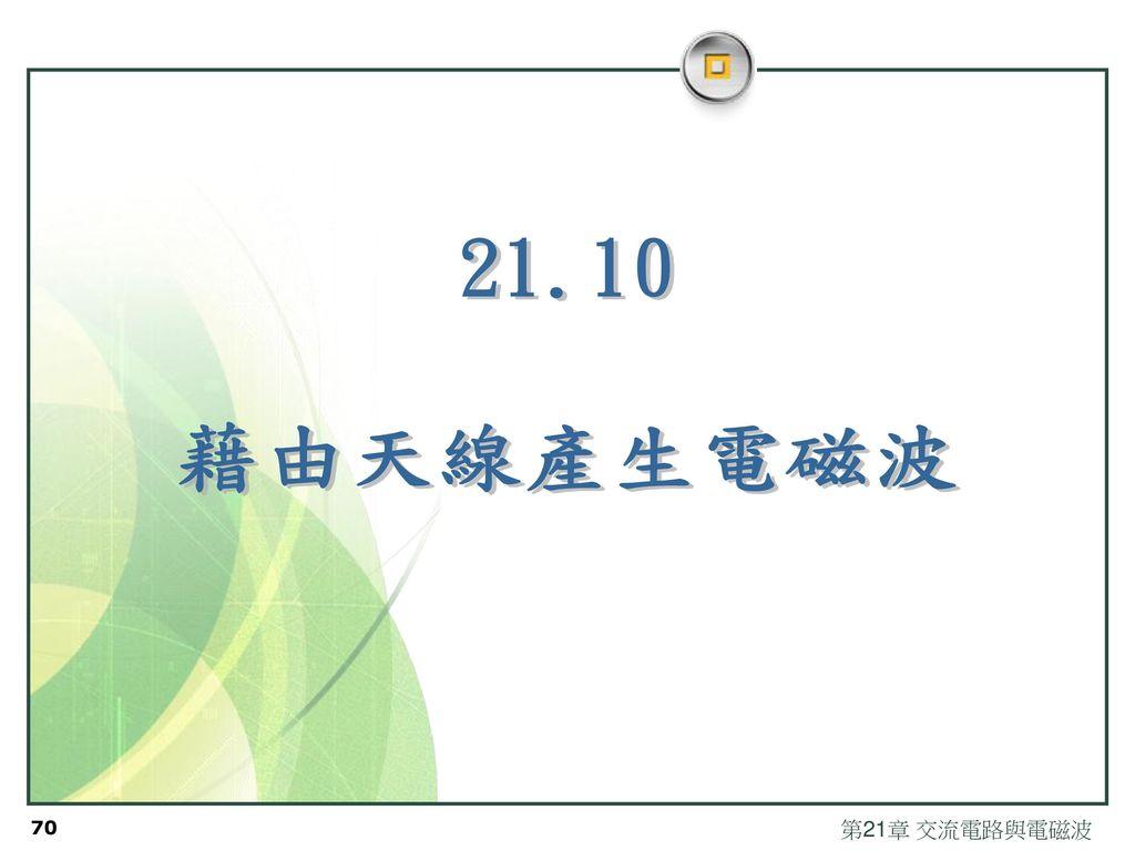 21.10 藉由天線產生電磁波 第21章 交流電路與電磁波