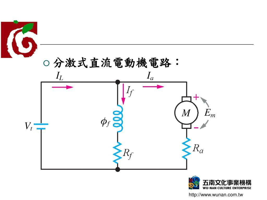 分激式直流電動機電路: