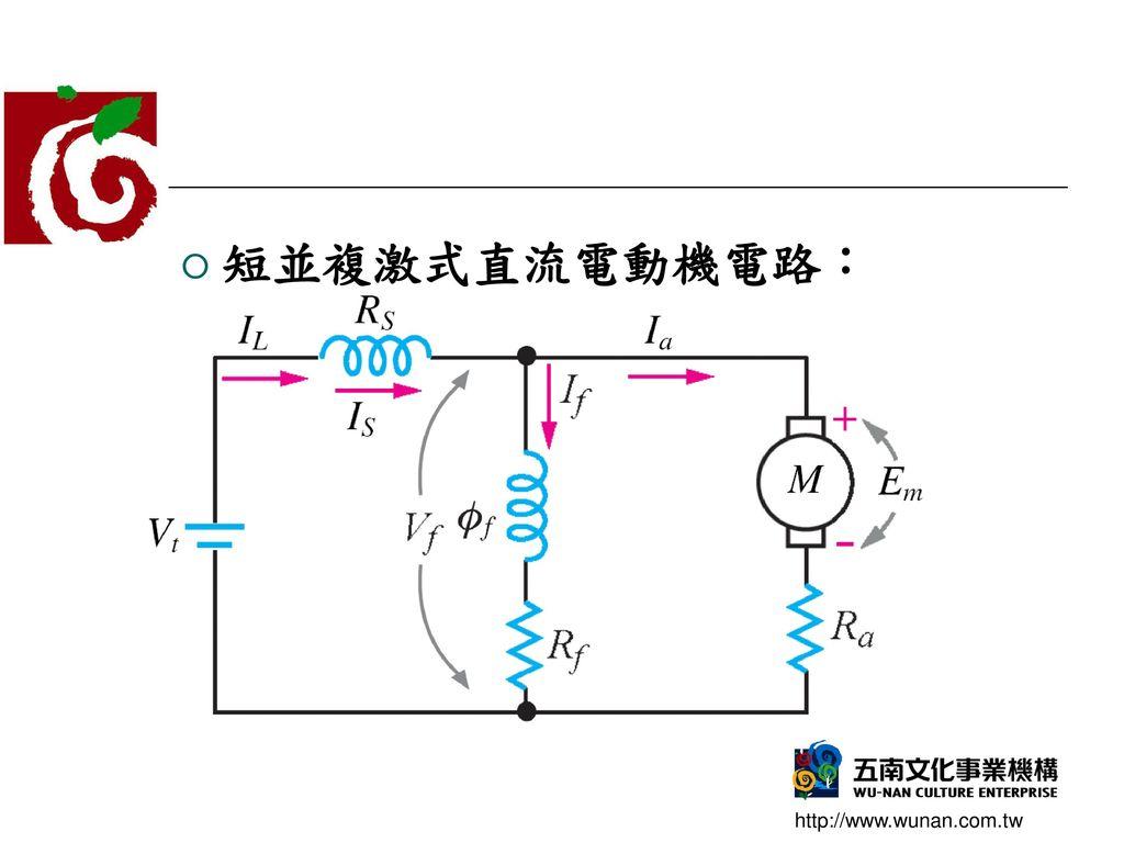 短並複激式直流電動機電路: