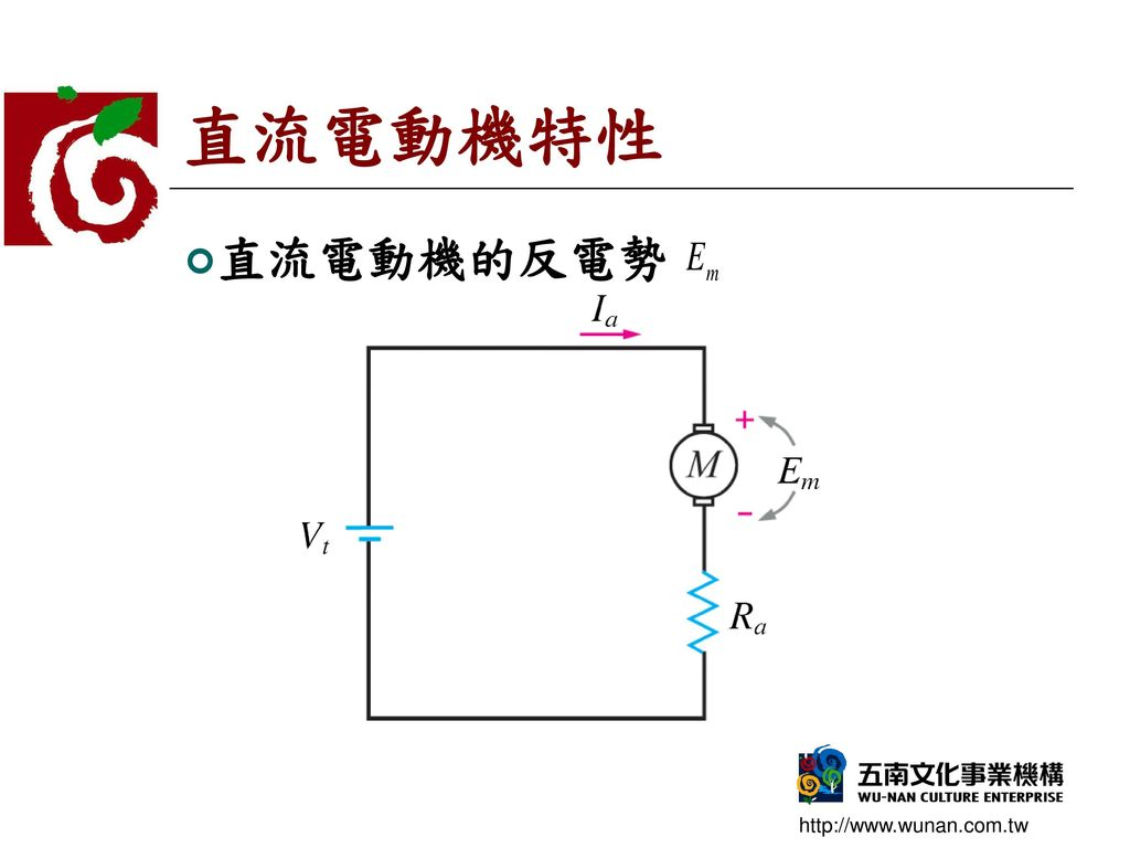 直流電動機特性 直流電動機的反電勢