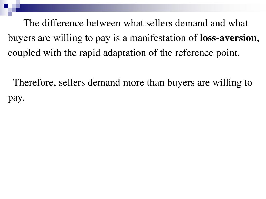 The difference between what sellers demand and what