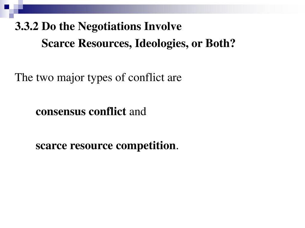 3.3.2 Do the Negotiations Involve