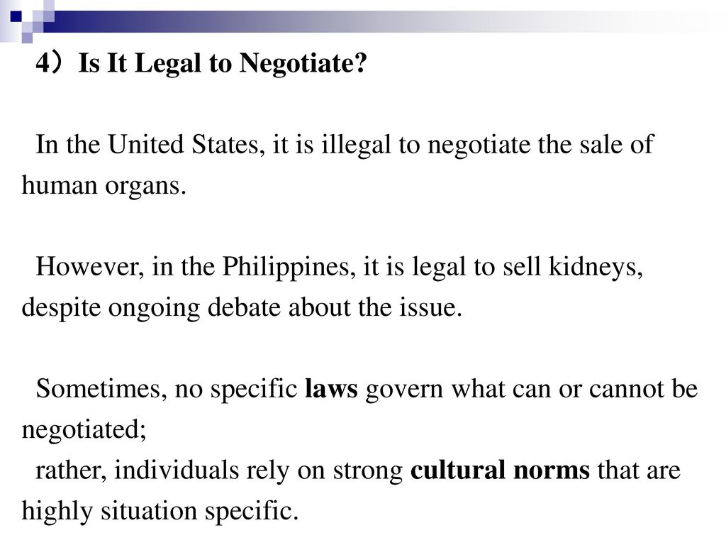 4)Is It Legal to Negotiate