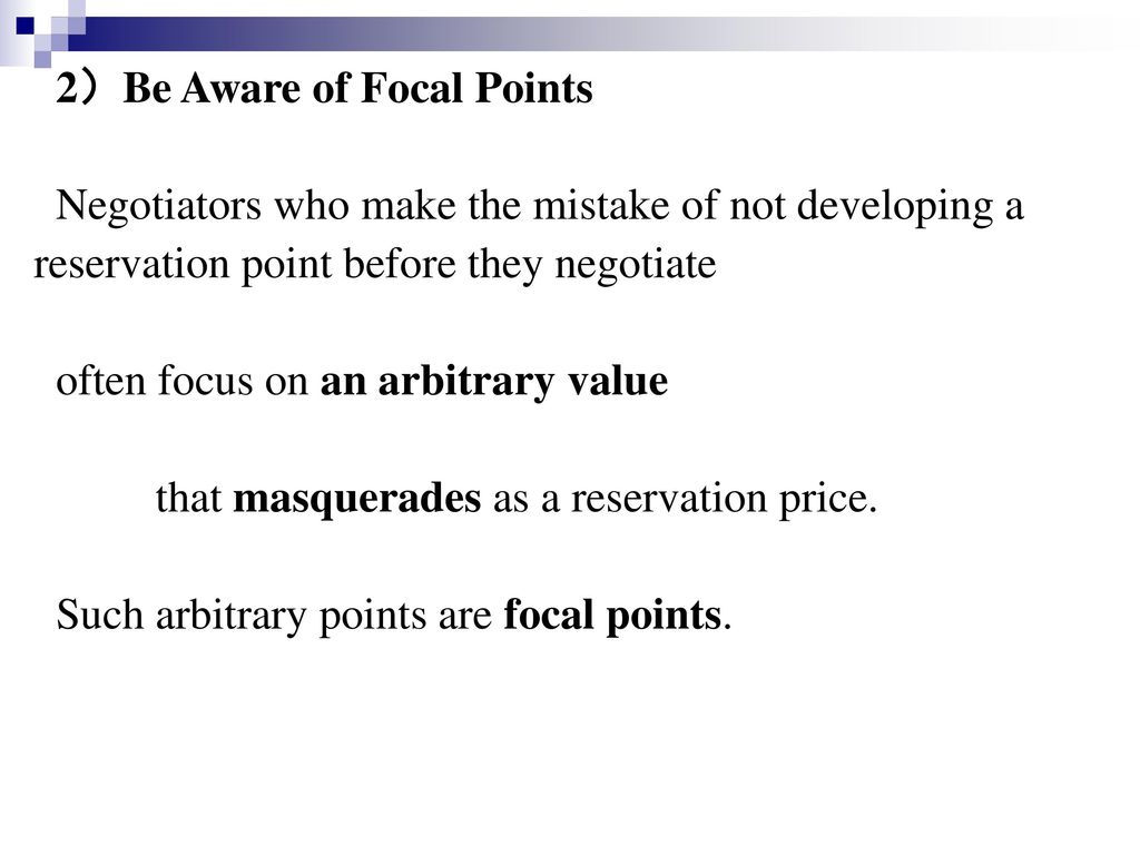2)Be Aware of Focal Points