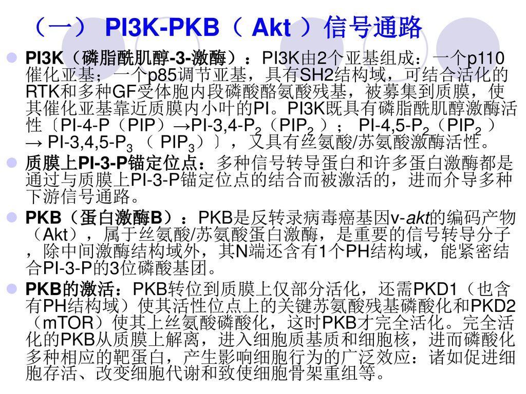 (一) PI3K-PKB( Akt )信号通路