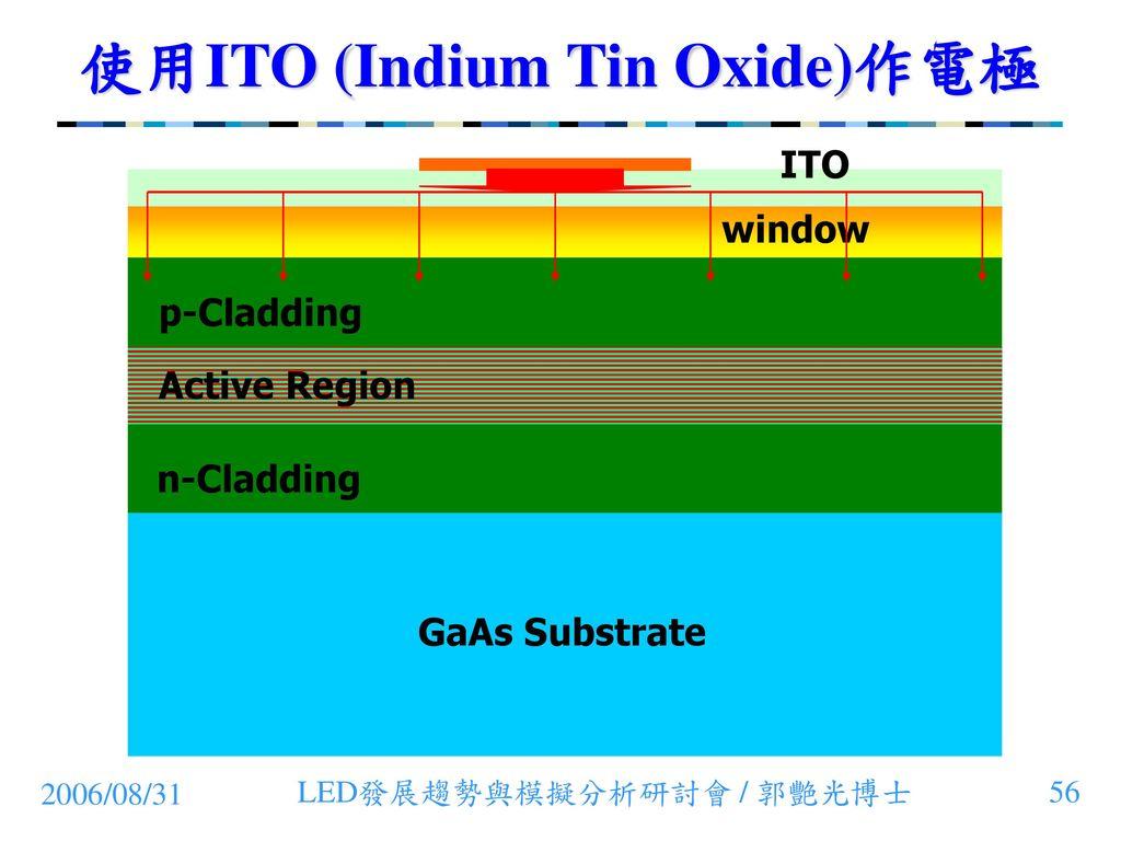 使用ITO (Indium Tin Oxide)作電極