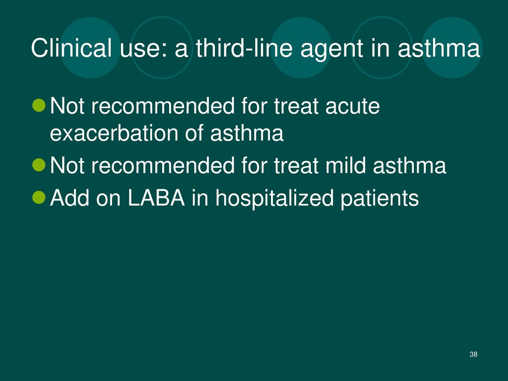 Clinical use: a third-line agent in asthma