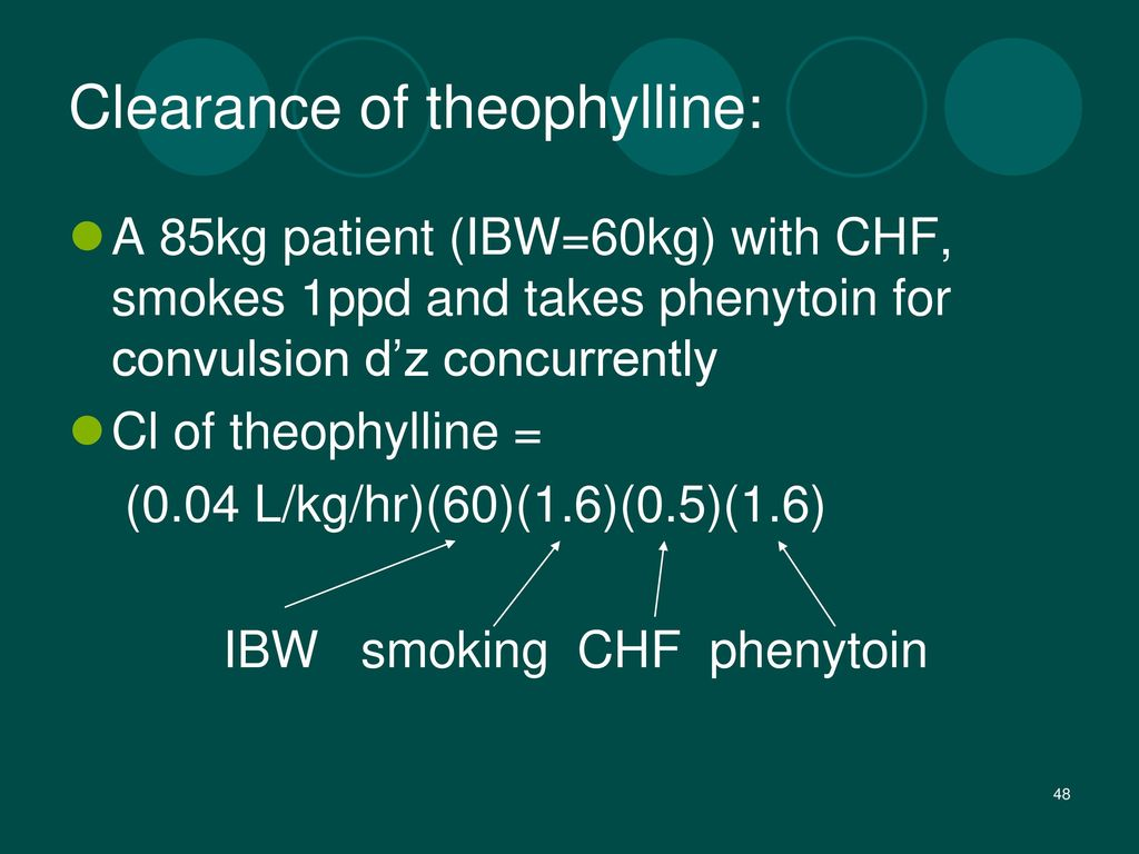 Clearance of theophylline: