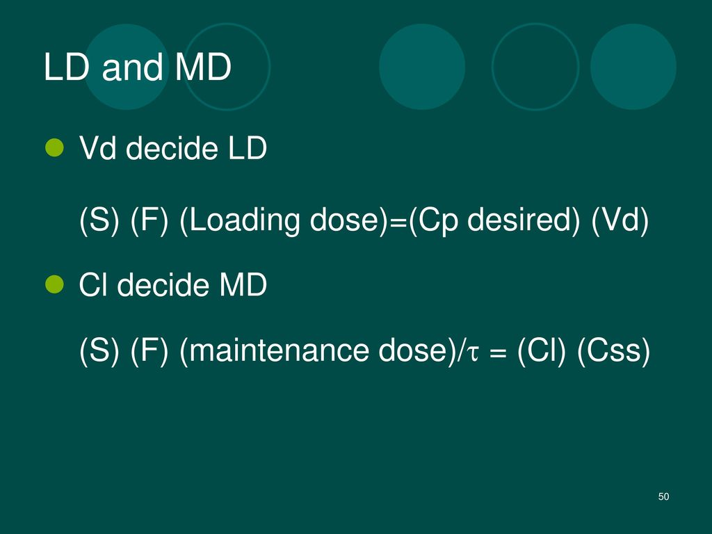 LD and MD Vd decide LD Cl decide MD