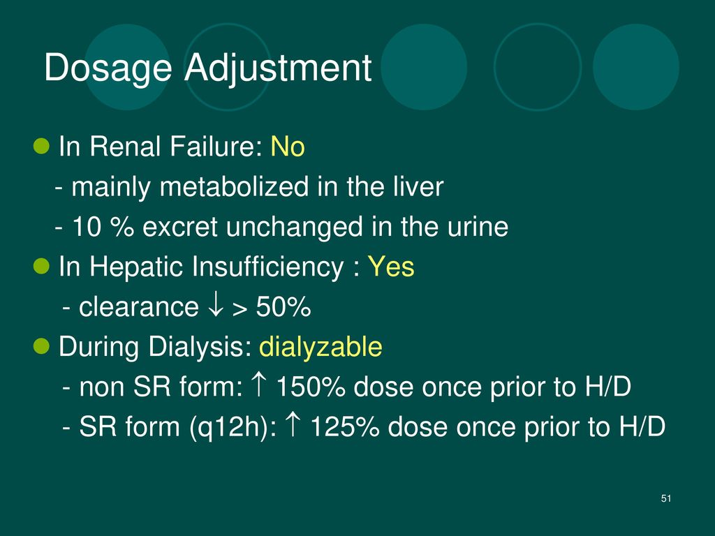 Dosage Adjustment In Renal Failure: No