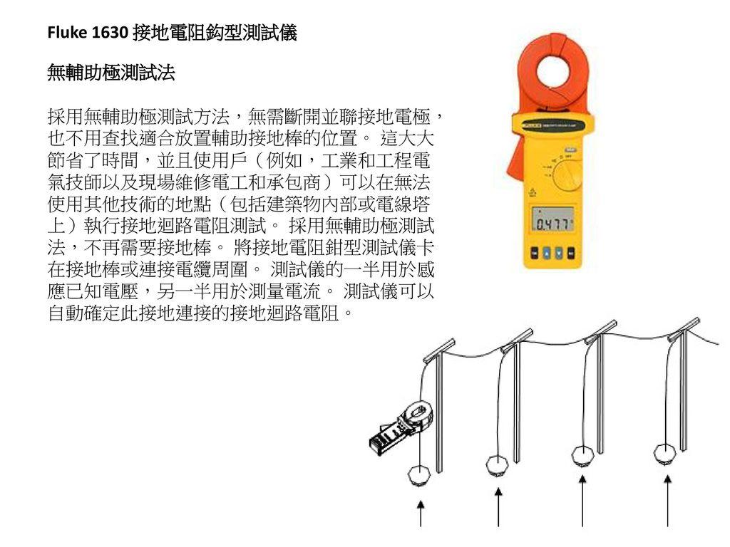 Fluke 1630 接地電阻鈎型測試儀