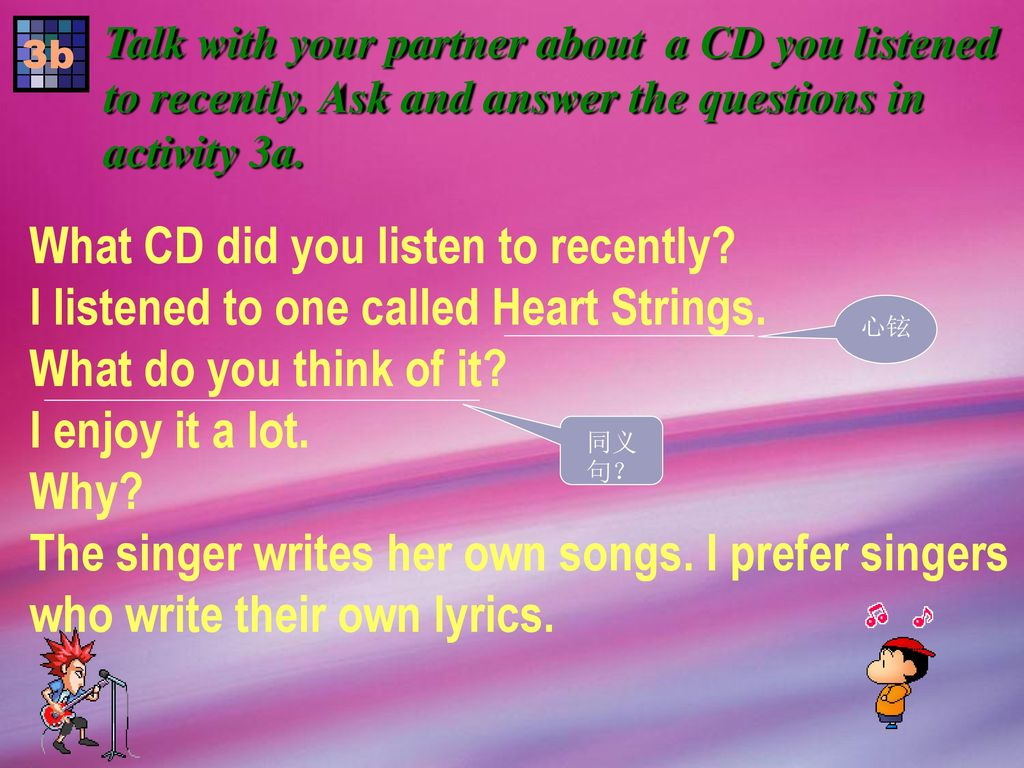What CD did you listen to recently