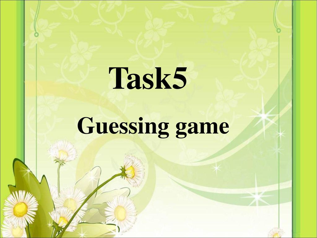 Task5 Guessing game