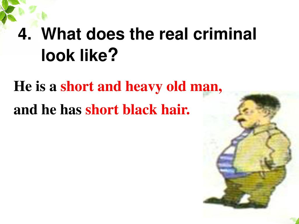 4. What does the real criminal look like