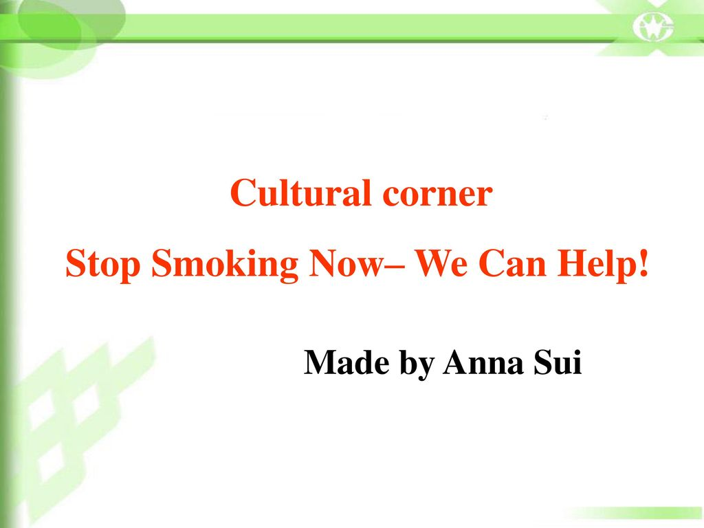 Stop Smoking Now– We Can Help!