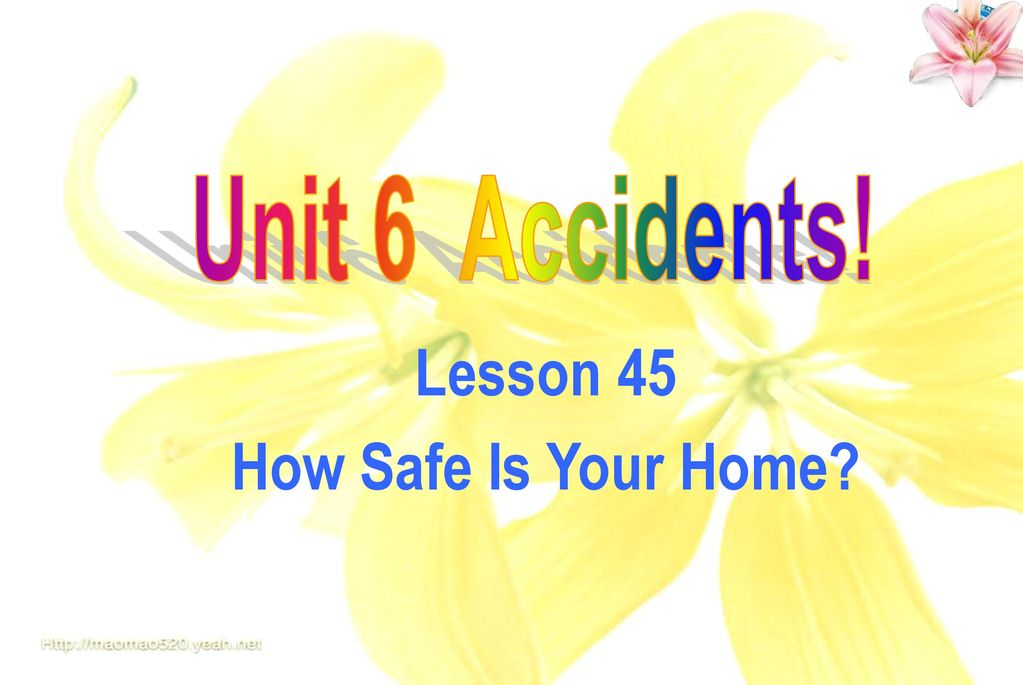 Lesson 45 How Safe Is Your Home