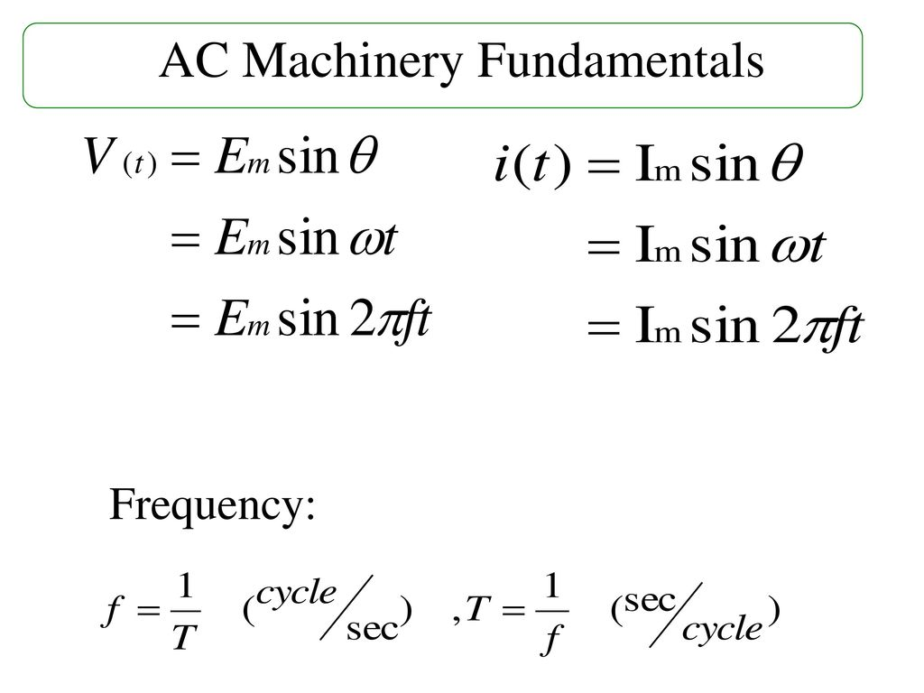AC Machinery Fundamentals
