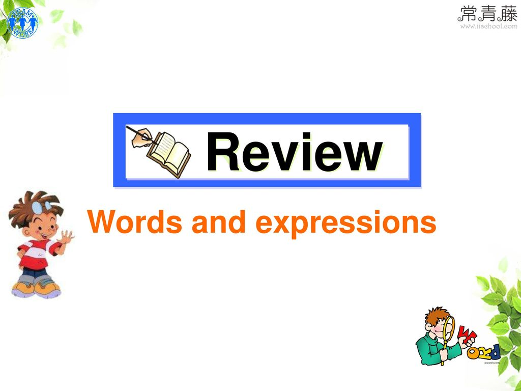 Review Words and expressions