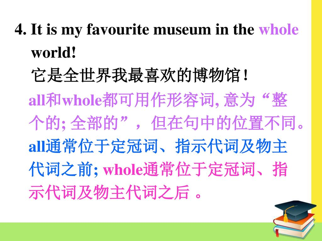 4. It is my favourite museum in the whole