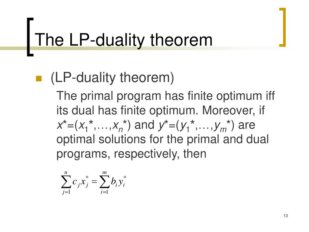 The LP-duality theorem