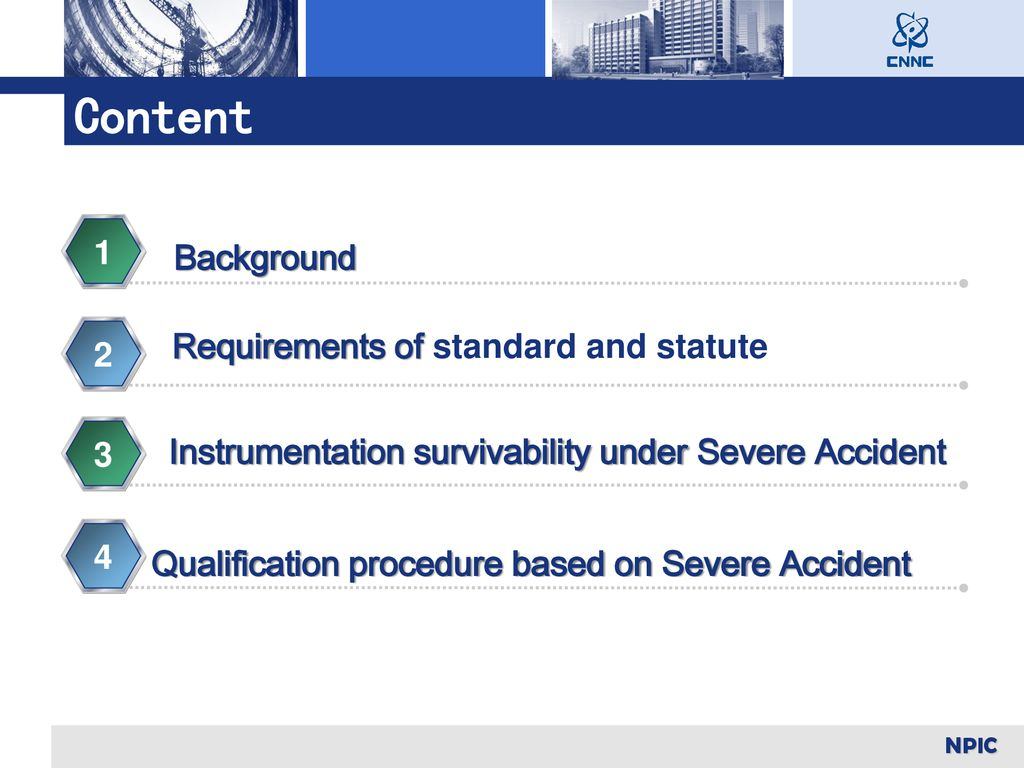 Content Background 1 Requirements of standard and statute 2