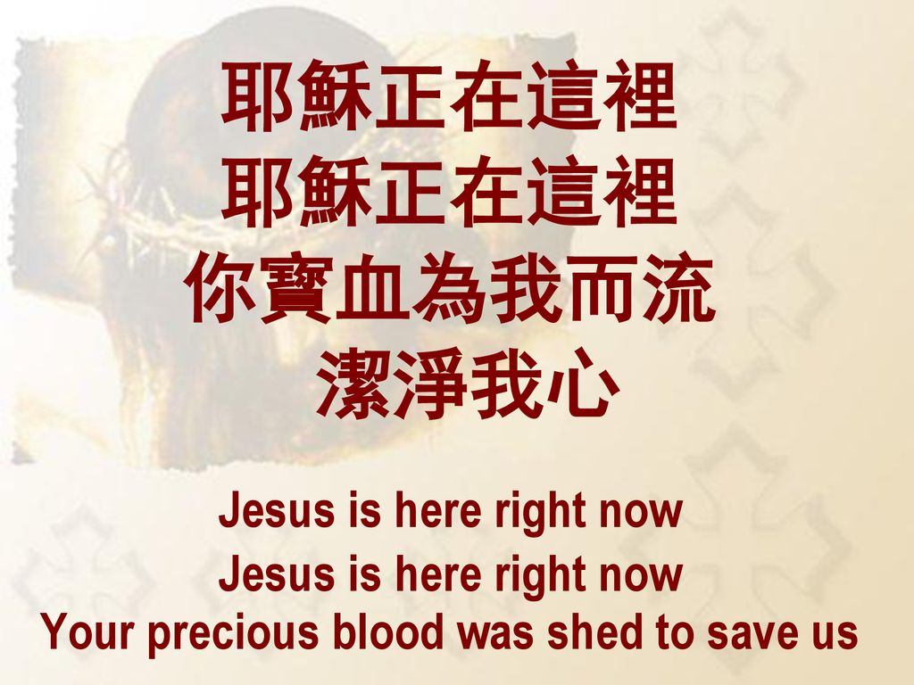 Your precious blood was shed to save us