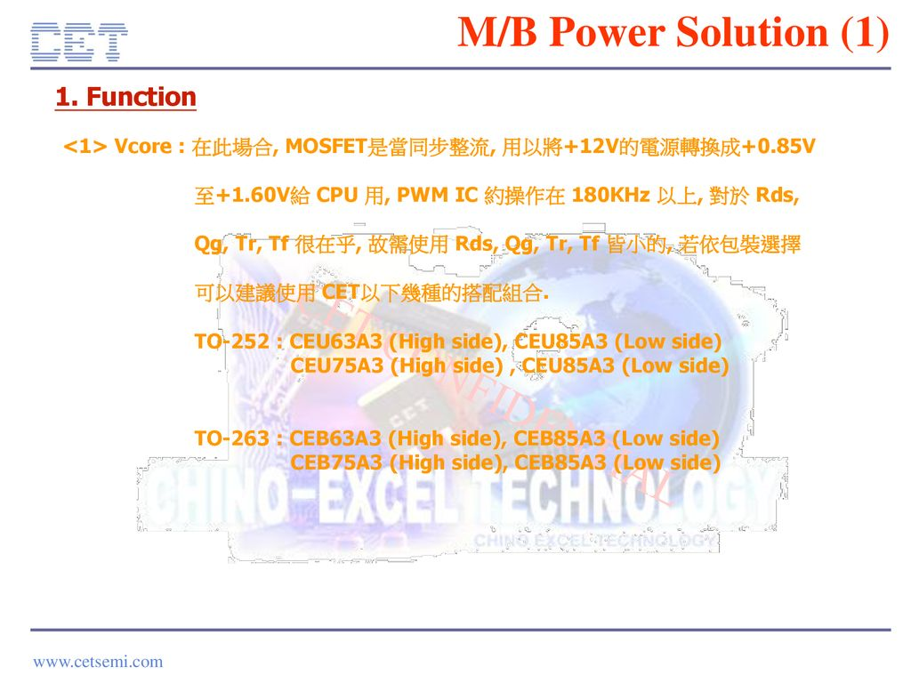 M/B Power Solution (1) 1. Function